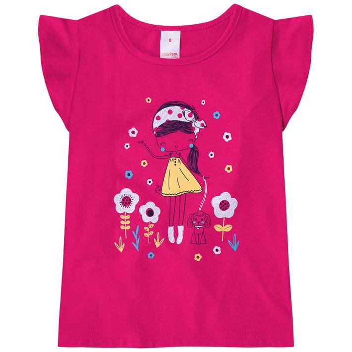 Blusa-Infantil-Menina-Com-Estampa-Floral---Rosa