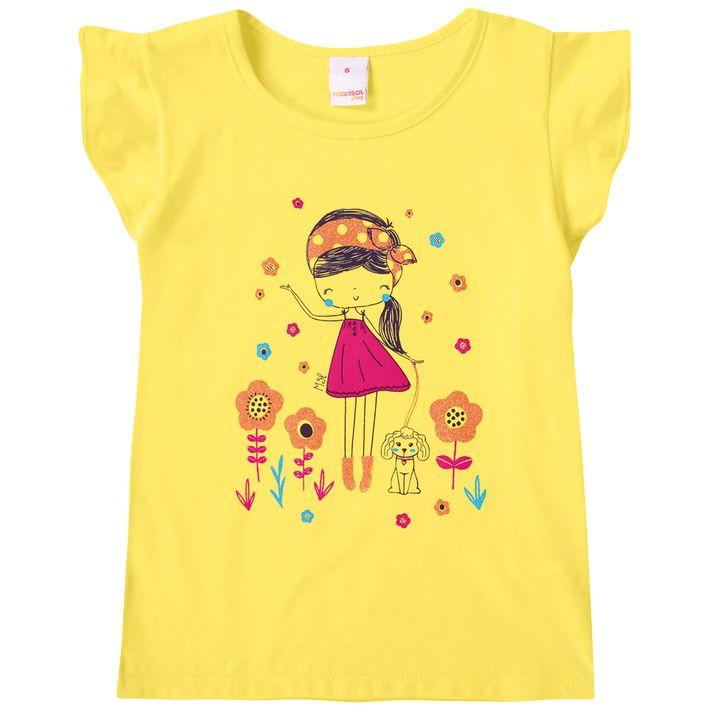Blusa-Infantil-Menina-Com-Estampa-Floral---Amarela