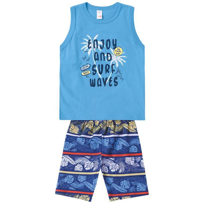 Conjunto-Infantil-Menino-Com-Estampa-Praiana---Azul