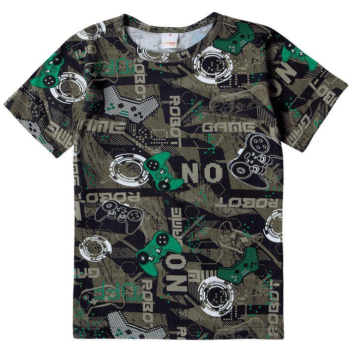 Camiseta-Infantil-Menino-Com-Estampa-Gamer---Verde