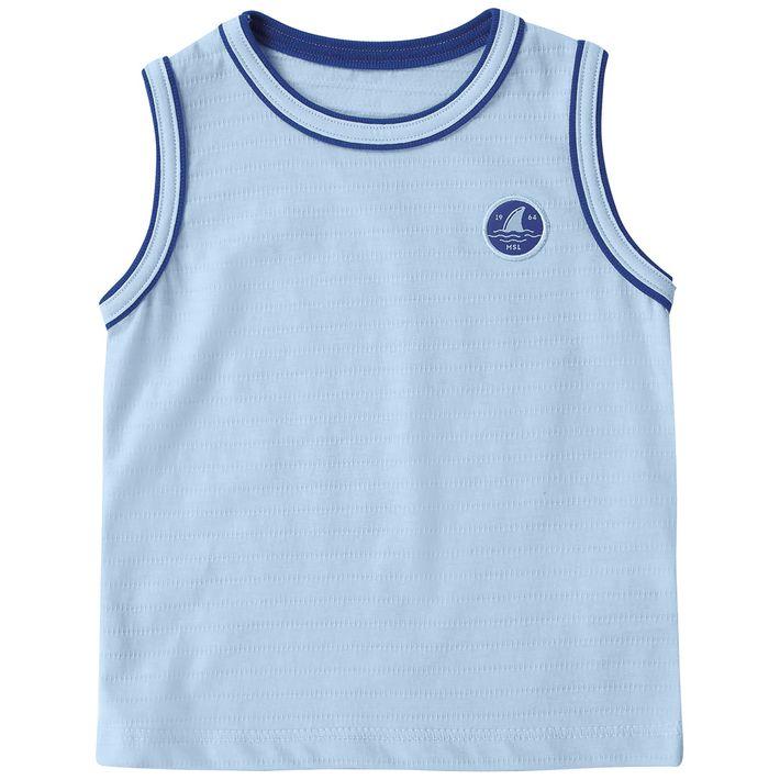 Camiseta-Regata-Infantil-Menino-Com-Bordado----Azul