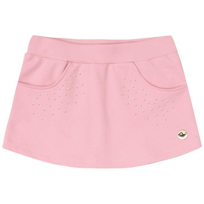 Short-Saia-Infantil-Menina-De-Moletom---Rosa-