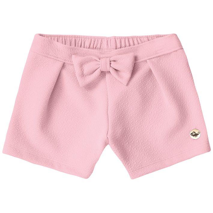 Short-Infantil-Menina-Com-Laco-Decorativo---Rosa-