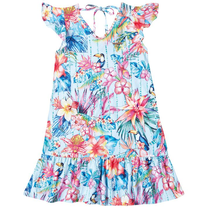 Vestido-Infantil-Menina-Estampado---Azul