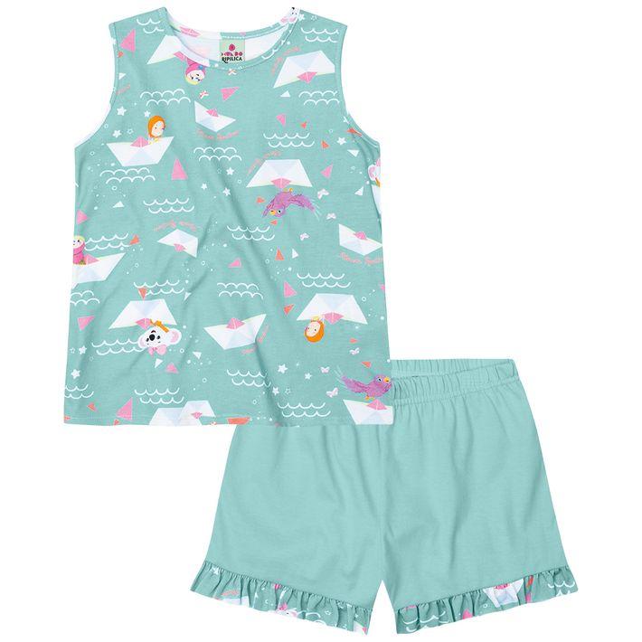 Pijama-Mundo-Ripilica-Infantil-Menina---Verde