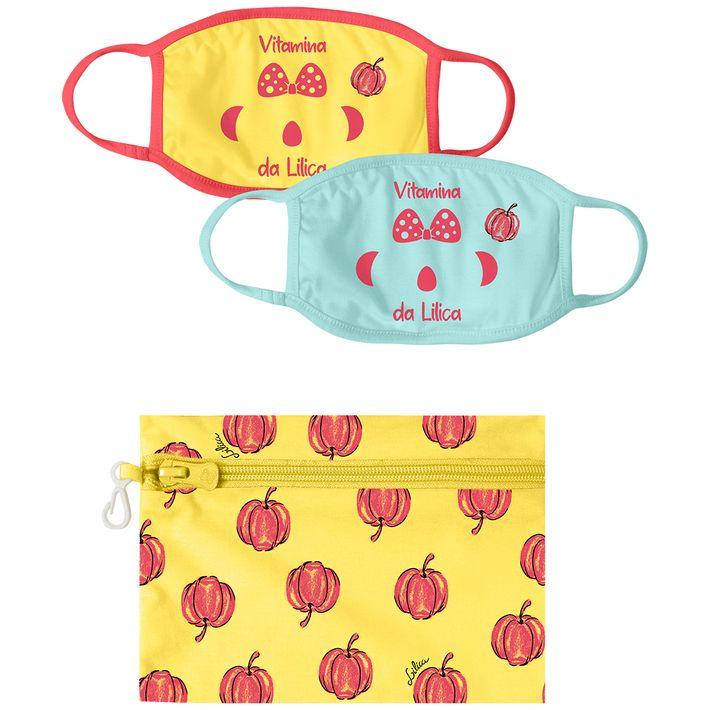kit-mascara-com-necessaire-infantil-menina-com-protecao-antiviral-amarelo