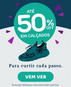 Calçados 50%
