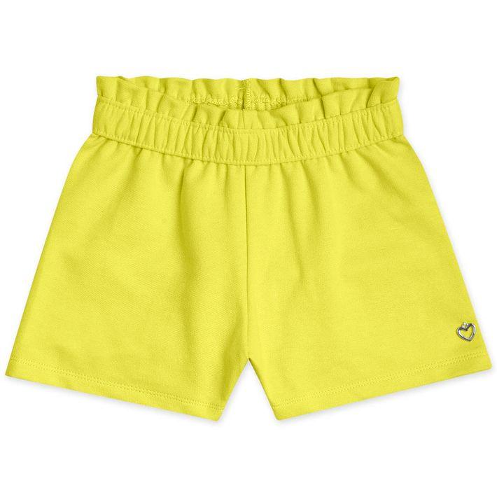 Short-Infantil-Menina---Amarelo