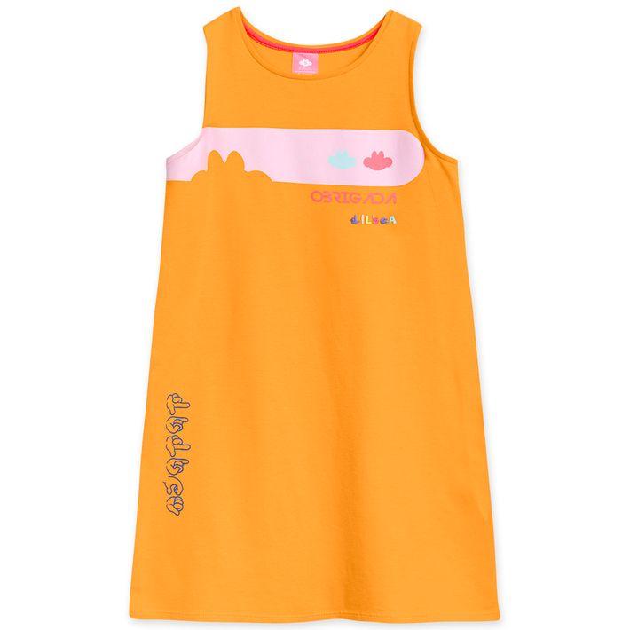 Vestido-Infantil-Menina-Com-Propriedades-Hidratantes---Laranja